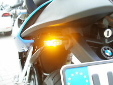 Clignotants Led Mini Noir BMW K1200s K 1200 S Prêt pour le Montage Signal de