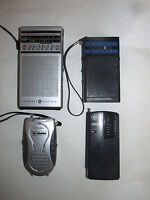 LOT of 4 AM/FM RADIO GE REALISTIC VEXTRA WEATHER BAND RADIO Vintage To Modern