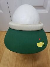 The Masters Vintage Golf Women Visor Augusta National Golf Pga Green Embroidered