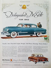 1953 Blue DeSoto FireDome Car Color Original Ad