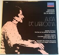 Alicia De Larrocha De Falla Chopin London Stereo rare Mexico Record