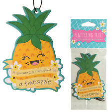Funky Pineapple Scented Car Air Freshener for home van Novelty Hanging Freshner