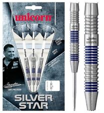 GARY ANDERSON 24 GRAM UNICORN SILVER STAR 80% TUNGSTEN DARTS BARREL B