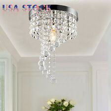 Modern Crystal Pendant Lamp Ceiling Light Fixture Lighting Rain Drop Chandelier
