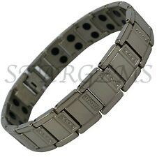 MENS MAGNETIC THERAPY TITANIUM BRACELET PAIN RELIEF ENERGY HIGH STRENGTH GIFT