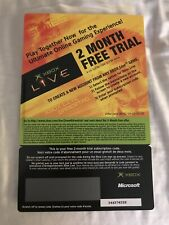 Microsoft Xbox LIVE 2 Month Subscription Card Membership for Org Xbox Expired