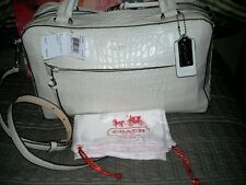 Coach Bleecker Pinnacle White Croc Embossed Leather Satchel 30449 *sale* NWT New