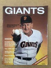 Vintage Giants Baseball Magazine 1986 Volume 1 No.1 Collectible