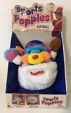 1987 Mattel Sports Popples PC Popple Softball Plush Toy In Box NRFB Baseball