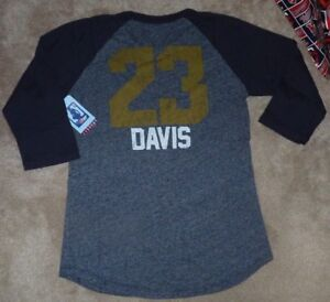 NEW NBA Anthony Davis New Orleans Pelicans Women Ladies 3/4 Jersey T Shirt XS NW