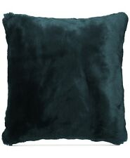 "Hallmart Collectibles 18"" Square Faux Fur Decorative Pillow Teal Blue Jewel Tone"