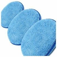 3 x Microfibre Foam Sponge Polish Wax Applicator Pads Car Home Cleaning M5F8