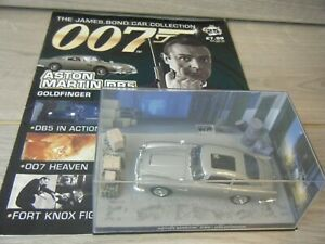 JAMES BOND CAR COLLECTION ASTON MARTIN DB5 FROM GOLDFINGER ISSUE 25+MAGAZINE