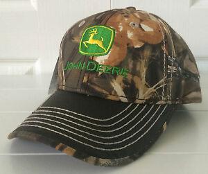 John Deere Realtree Max-4 Camo Hat Cap w Waxy Dark Olive Gray Visor