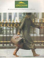 ▬► PUBLICITE ADVERTISING AD Longchamp Sac Spider Maroquinerie  1994