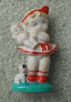 "Kewpiesta 2000 Signed Porcelain Kewpie Girl Figurine 3"" Tall"