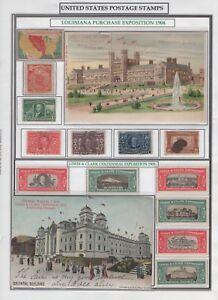 1904 Louisiana Purchase & 1905 Lewis & Clark Expo Lot HARRIS READY SC 323-327+++