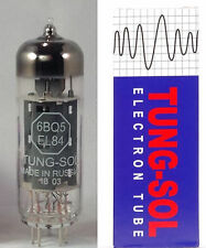 A single (1) Tung-Sol EL84TS 6BQ5 Power Vacuum Tube / Valve