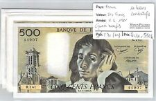 FRANCE - 10 BILLETS CONSECUTIFS 500 FRANCS 4-6-1981  - QUASI  NEUF