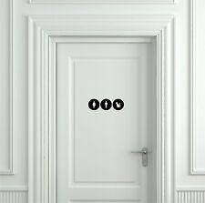 Funny Cat Toilet Sign - Door Sticker, Door Decal Bathroom Door Sign