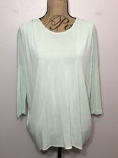COS Dolman Batwing Sleeve Blouse Top Career Casual Green Womens Size M Medium