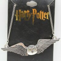 """Harry Potter Hedwig Snowy Owl Silver Color Necklace 22"""" w/3"""" ext from BioWorld"""