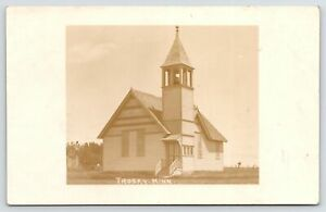 Trosky MN Never Frequent These Places~2 Churches, Can't Decide Which 1 1914 RPPC