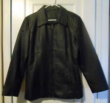 Leather Jacket,Women's,100% Genuine,Black, Size Large, Lined.Excellent Condition