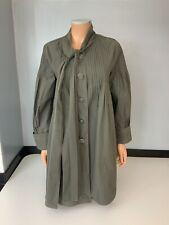 Anna Sui Khaki Mac Swing Jacket Coat Size M Uk 10 Gc