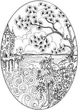 Scene - Scenery - Tree - Forest - Woodland #5 UM Clear Stamp Approx 53x75mm