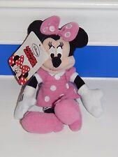 Disney Mickey & Friends Minnie Clip Plush Doll Pink Dress Sm Zip Pocket Girls 3+
