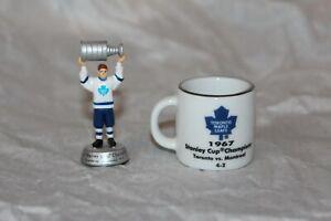 1967 Toronto Maple Leafs Stanley Cup Mini Mug and Figure Figurine combo