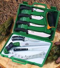 Outdoor Edge 12 Piece Wild Game Processor Kit Case Hunting Knife Set Deer Pr-1