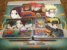 Naruto CCG/ TCG Ultimate battles Tins - Set of all 3 tins! CHIBI Sasori Sasuke