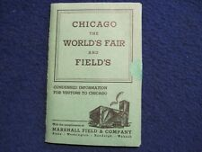 Vintage Marshall Field 1933 World's Fair Visitor's Information Packet/Postcards