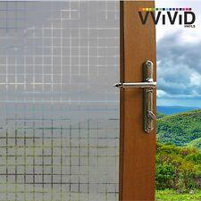 "VViViD Privacy Window Glass Film 36"" x 60"" Gray Tiles Home Decor DIY Removable"