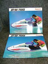 KAWASAKI JET SKI 750SX 1992 JS750 JS 750 OEM SALES FLYER BROCHURE LITERATURE