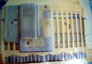 NEW4pc Carter's Boy Plane Nursery Set Crib Skirt Bumper Quilt Sheet Toddler Baby