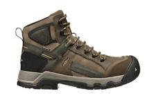 Men's KEEN Utility Davenport Waterproof Composite Toe Work Boot Shitake/Forest N