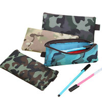 Pencil Bag Camo Unisex Students Pen Stationery Case Makeup Zipper Storage Pouch