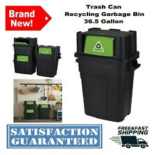 36.5 Gal. Trash Can Recycling Garbage Bin Waste Basket Stackable Indoor Outdoor