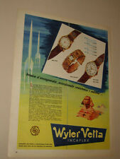 WYLER VETTA INCAFLEX WATCH OROLOGIO=ANNI '50=PUBBLICITA=ADVERTISING=547