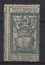 REGNO 1921 DANTE C. 25  DENTELLATURA FORTEMENTE SPOSTATA NON LINGUELLATO REGALO