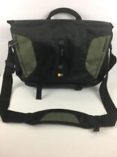Case Logic Light Weight Sport Messenger Laptop Bag Black And Green 15.4 Inches