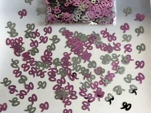 5 x 90th Pink Happy Birthday Party Glitz Table Confetti Sprinkle Decorations 14g