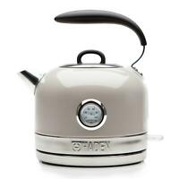 Haden Jersey Putty Retro Traditional Kettle 1.5L Cordless, Stainless Steel 3000W