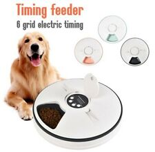Automatic Pet Feeder Timing 6 Meals 6 Grids Food Dispenser Dish Feed 24 Hours