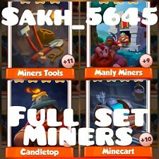 Full Set Miners ( Fast Delivery ):- Coin Master Cards :-  New High Set