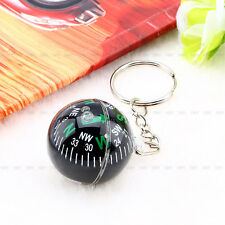 2.8cm Ball Keychain Liquid Filled Compass For Camping Hiking Outdoor Survival