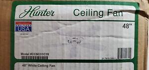 """Hunter Sea Wind 48"""" Flush Mount Ceiling Fan"""